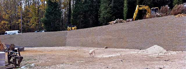 block wall construction complete
