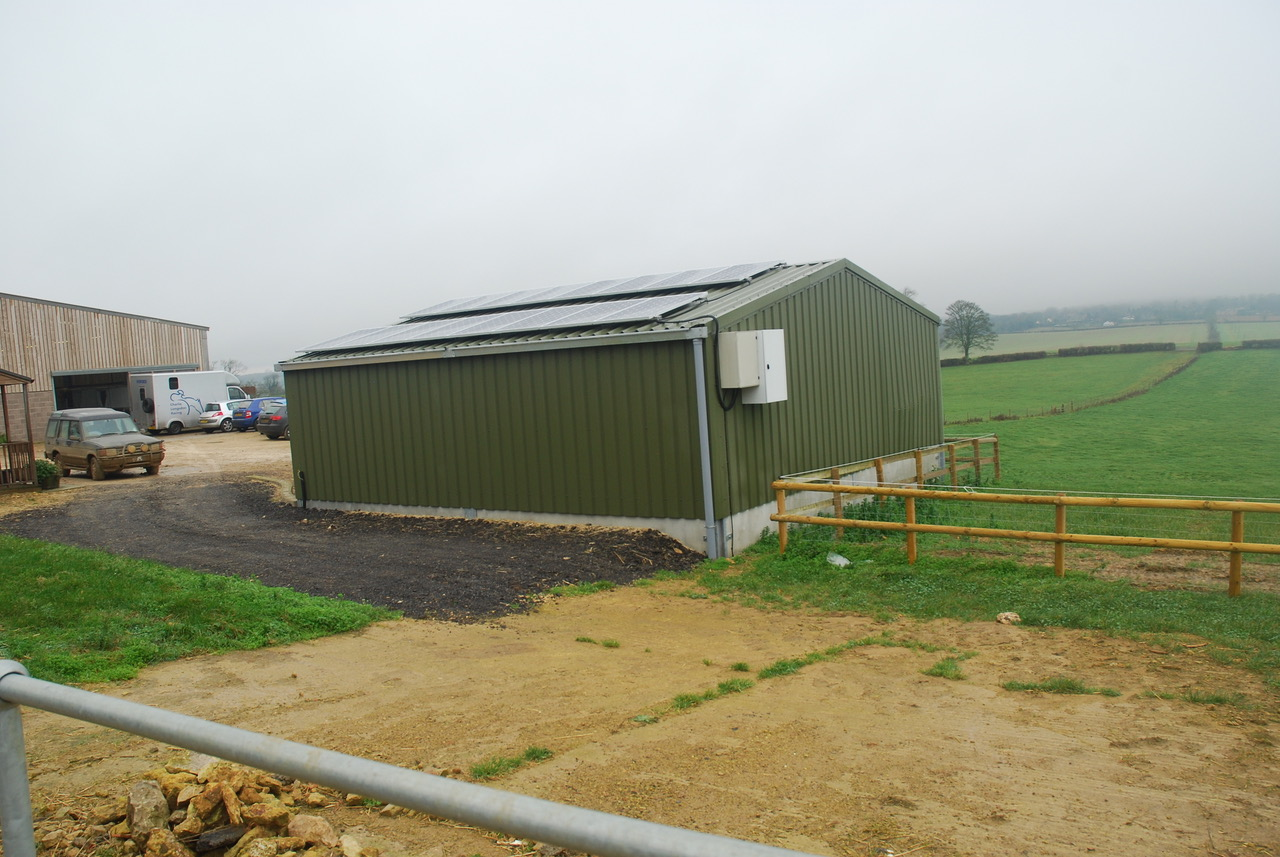 Cattle shed construction completed