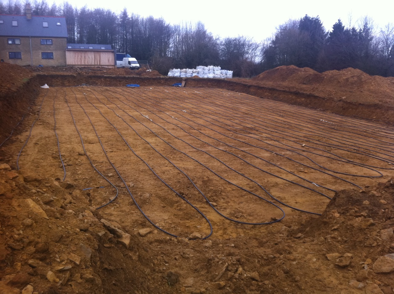 ground source heating laid
